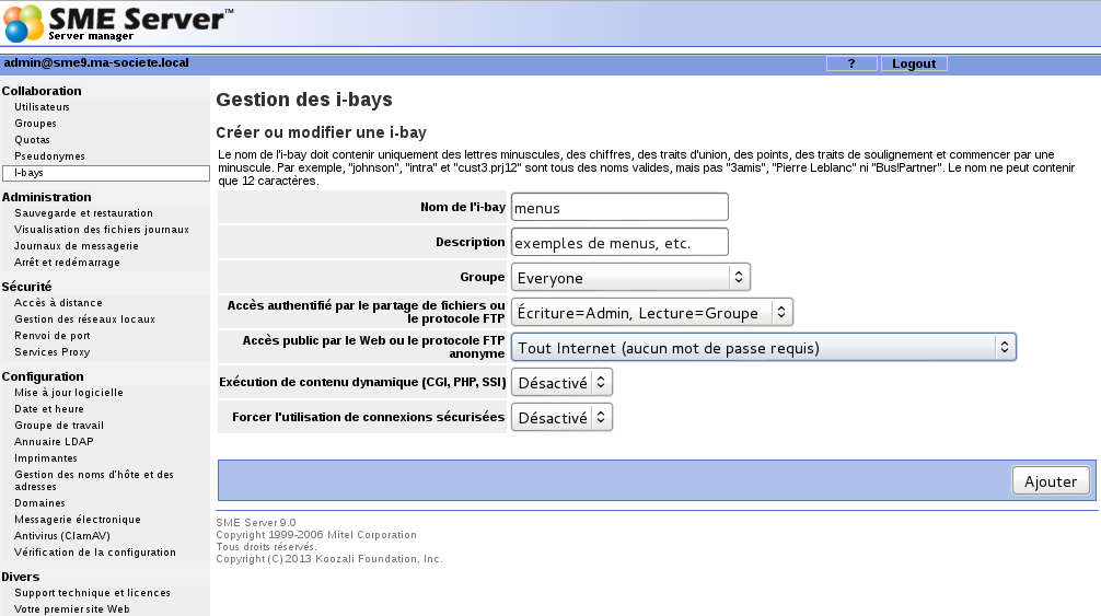 gestionnaire internet version 7.4
