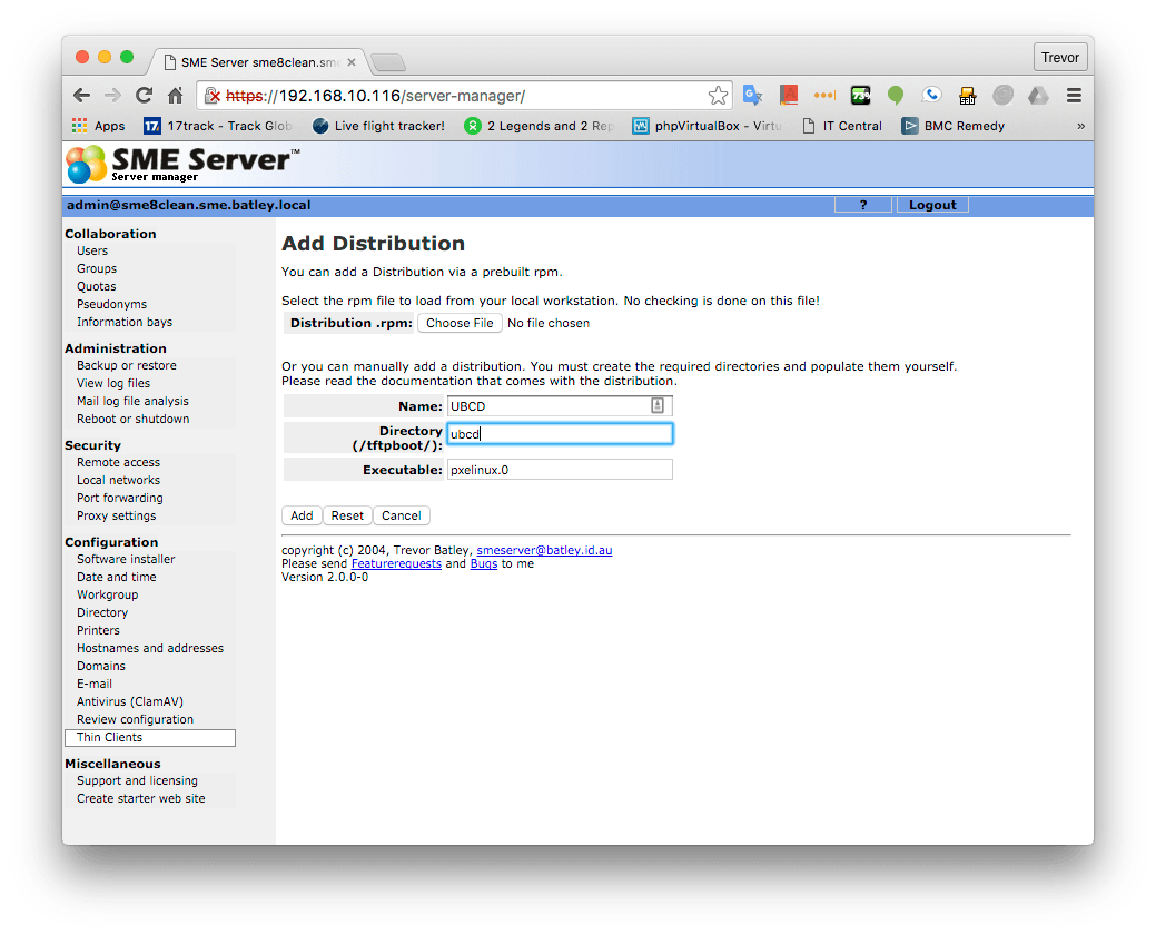 PXE via Thinclient - SME Server